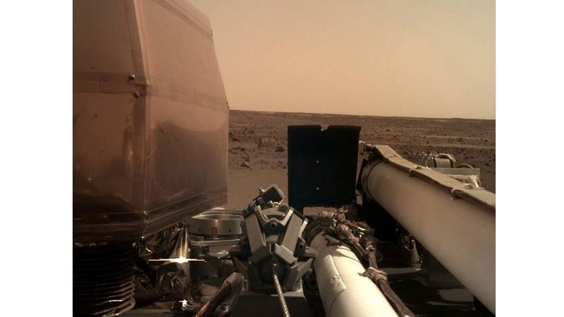 NASA's InSight Spacecraft, Safely on Mars, Snaps Some Pictures