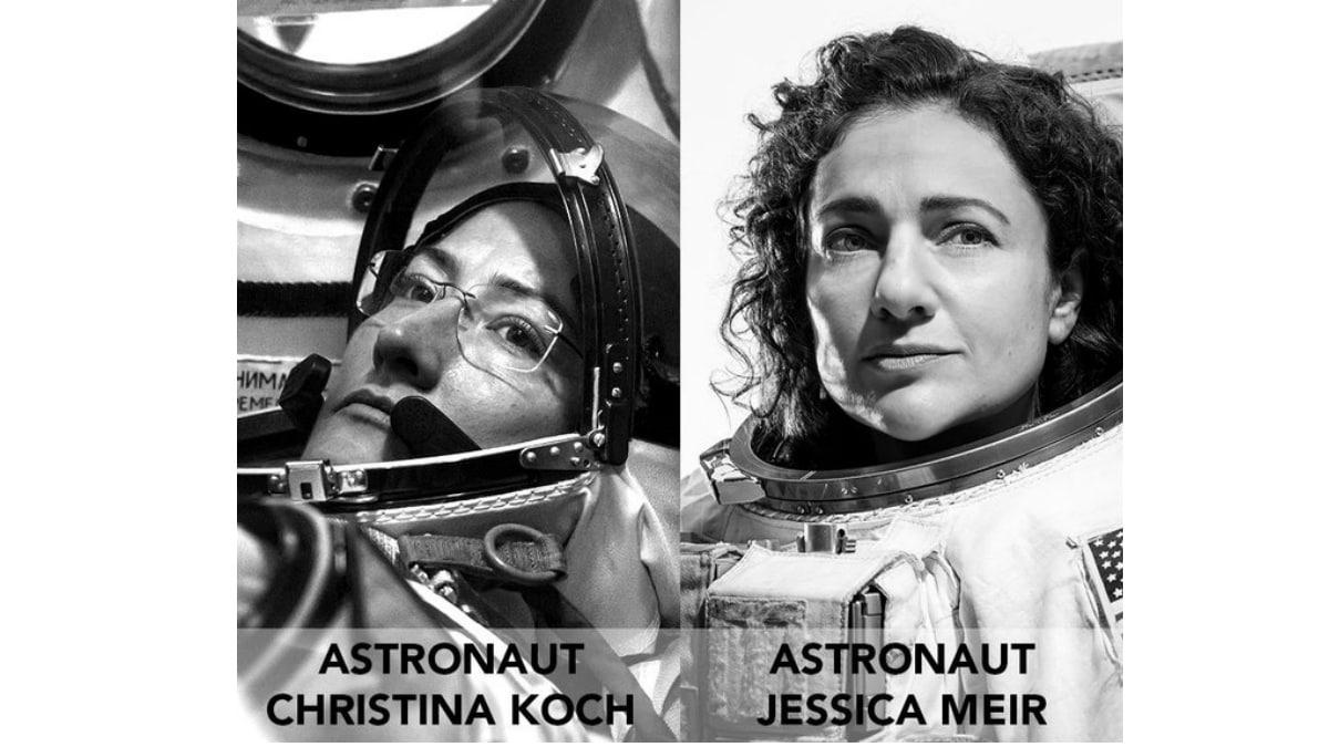 NASA Astronauts Conduct First All-Women Space Walk