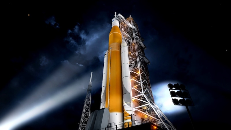 NASA weighing risk of adding crew to megarocket's 1st flight