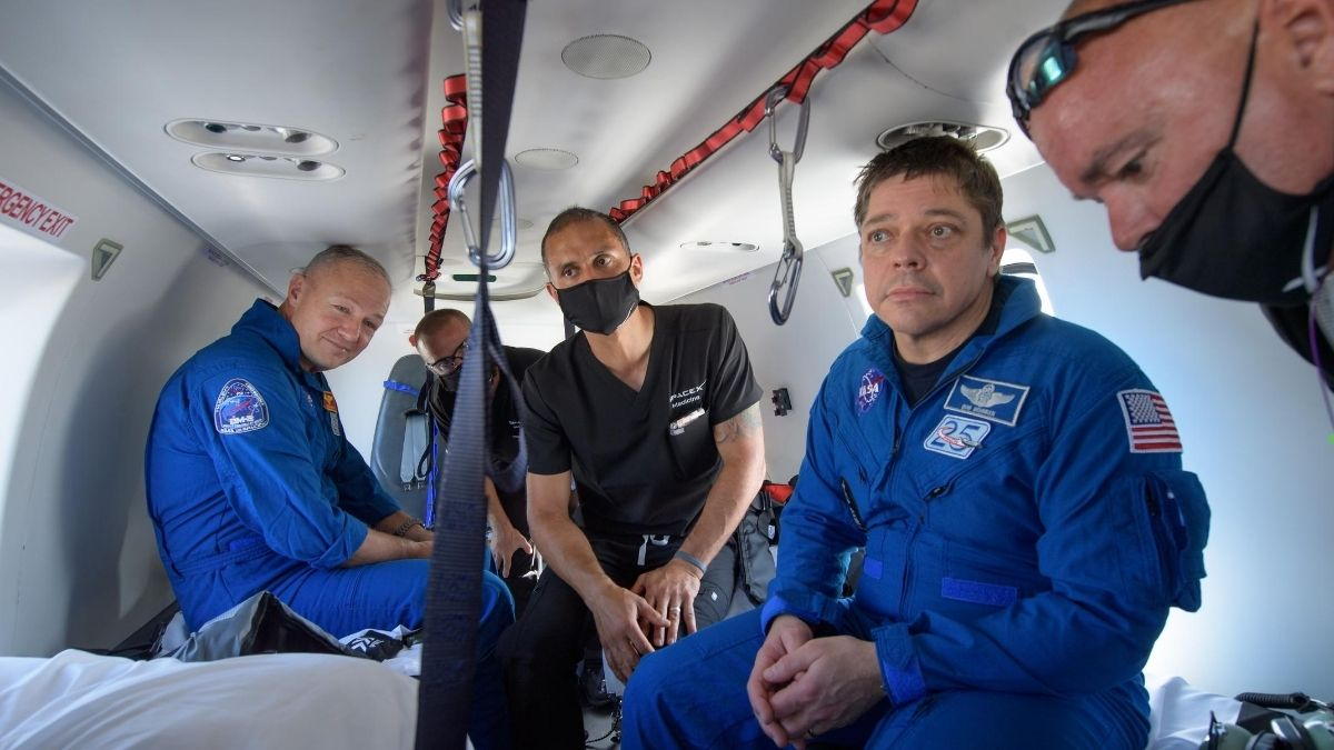 NASA Astronauts Describe Descent in SpaceX Dragon Capsule, 'Sounds Like an Animal'