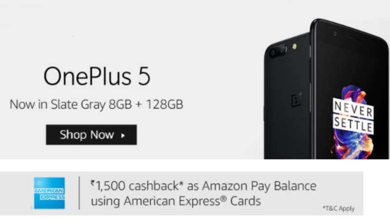 OnePlus 5 8GB RAM Slate Gray Variant Now Available in India via Amazon and One Plus Store