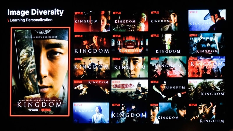 netflix thumbnails kingdom korea Netflix thumbnails personalised Kingdom
