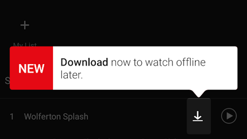 Netflix Finally Adds the Ability to Download Content
