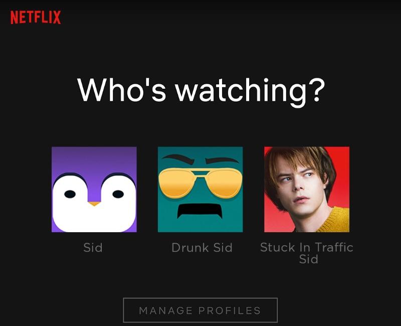 netflix profiles inline Netflix