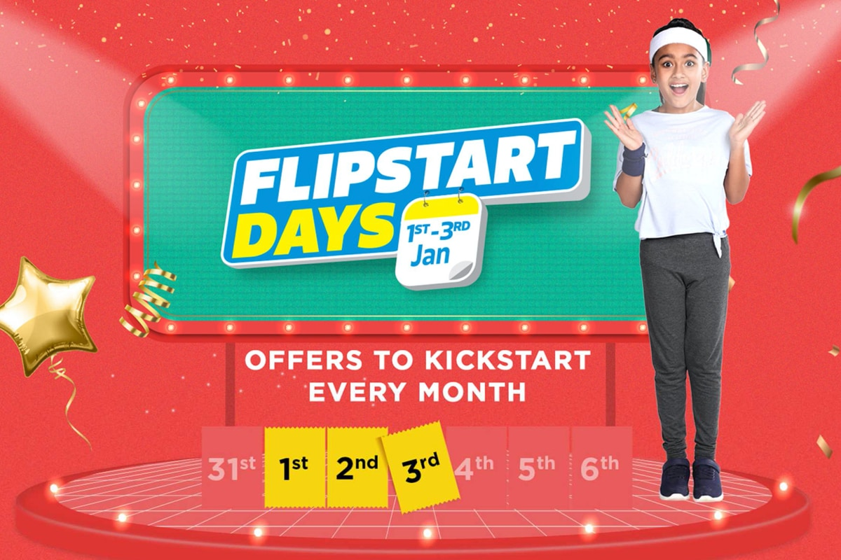 Flipkart to Ring In New Year With Flipstart Days Sale: Deals on Laptops, TVs, Appliances, and More