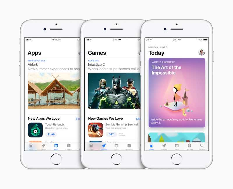 Apple Unveils App Store Redesign with Today, Apps, and Game Tabs at WWDC 2017
