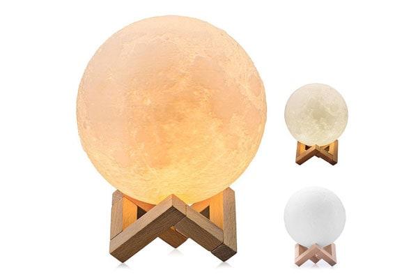 Best Night Light 3D Printing LED Moon Lamp