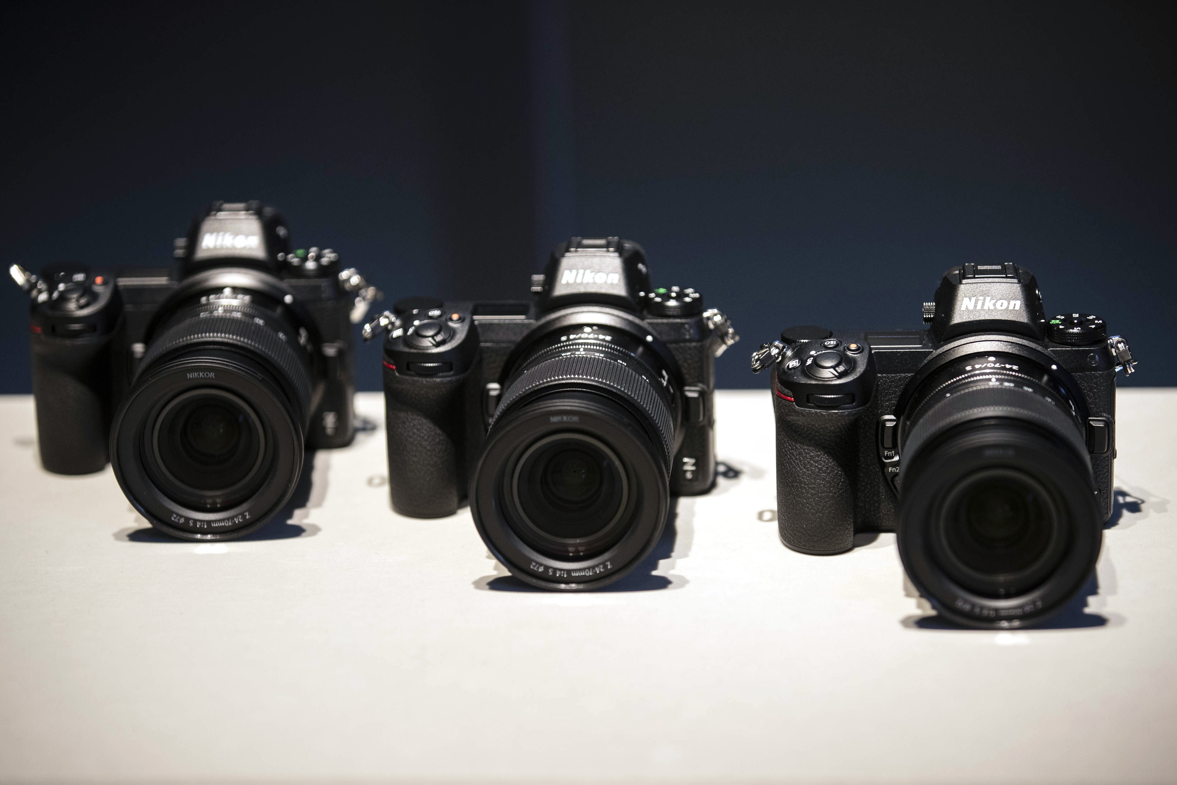 Nikon presented the first mirrorless cameras, shooting 9 and 12 frames per second 54