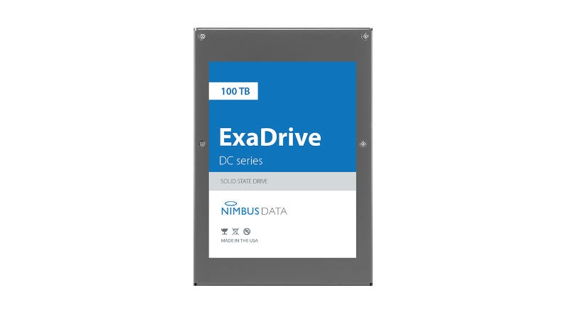Nimbus ExaDrive DC100 Debuted as World's Largest-Capacity SSD With 100TB Capacity