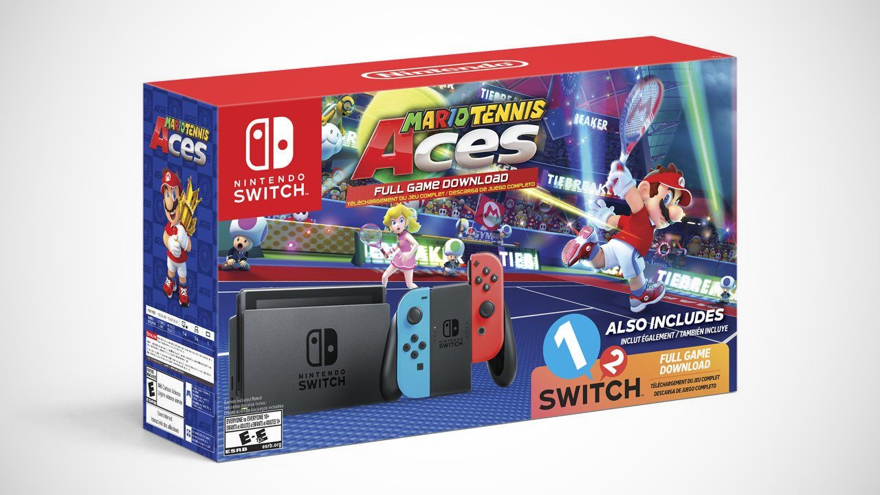 Nintendo Switch Bundle With Mario Tennis Aces, 1-2-Switch Announced