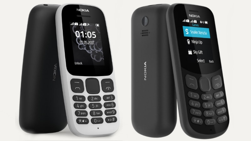 Nokia 105 (2017), Nokia 130 (2017) Feature Phones Launched: Price, Specifications, and Features