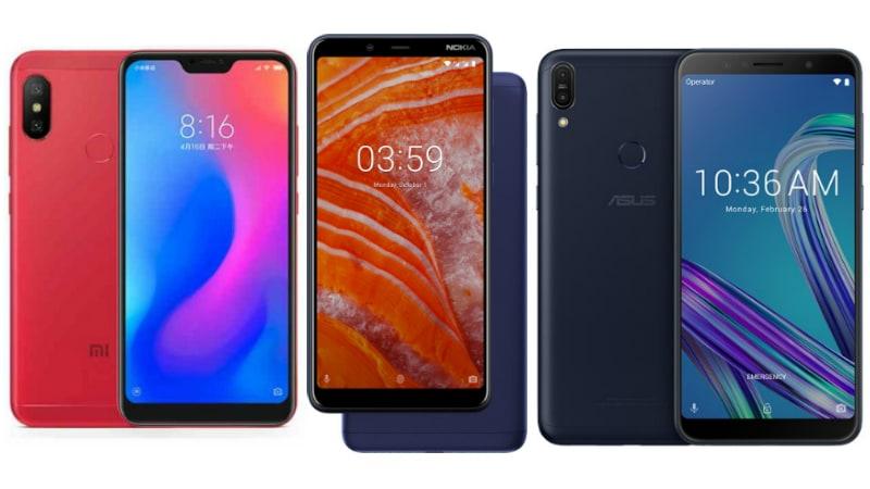 Nokia 3 1 Plus vs Redmi 6 Pro vs ZenFone Max Pro M1: Price