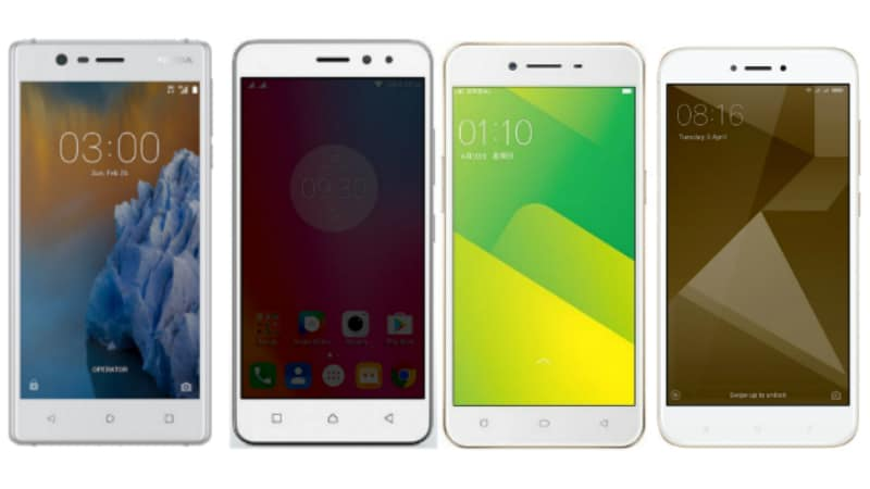 Nokia 3 vs Xiaomi Redmi 4 vs Oppo A37 vs Lenovo K6 Power: Price in India, Specifications Compared