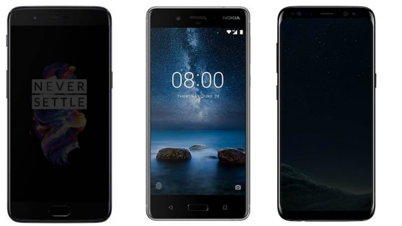 Nokia 8 vs OnePlus 5 vs Samsung Galaxy S8: Price, Specifications, Features Compared