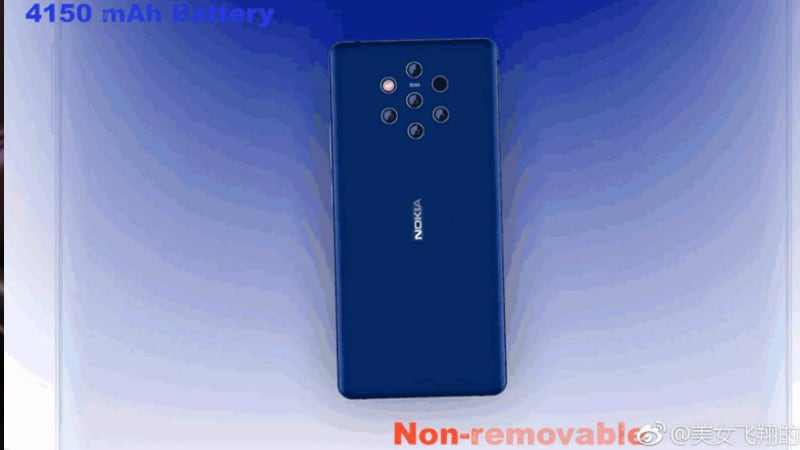 Nokia 9 Live Image Leak Tips 4,150mAh Battery, September Launch Expected