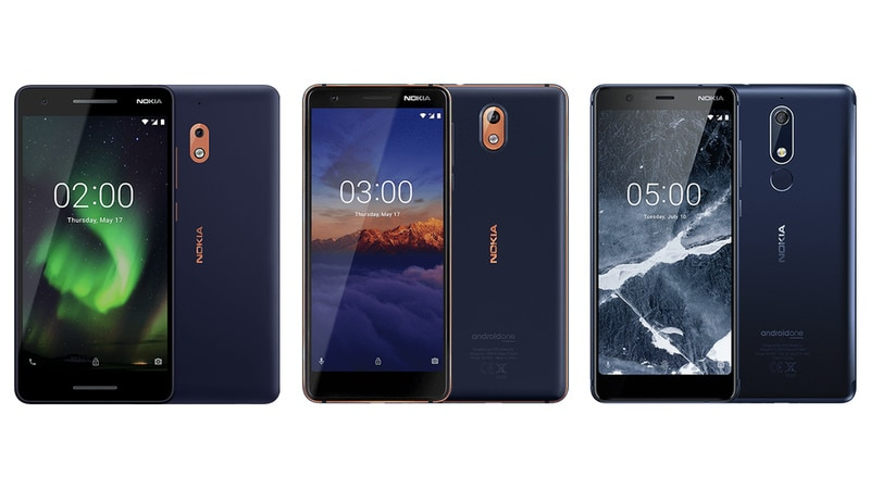Nokia 2.1, Nokia 3.1 3GB RAM Variant, Nokia 5.1 Go on Sale in India Today