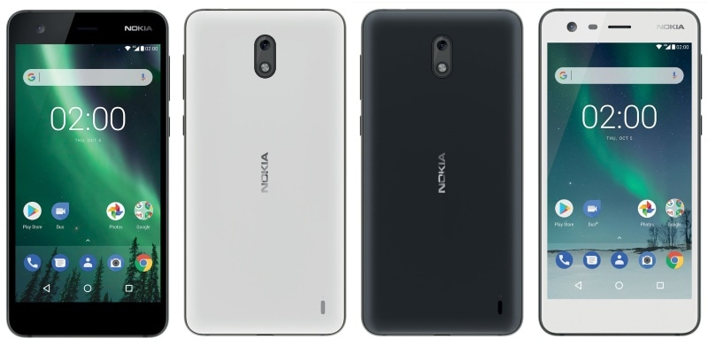 Nokia 2 spotted in Black & White colors with a software button