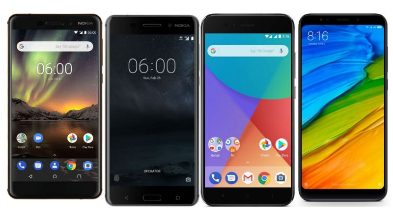Nokia 6 (2018) vs Redmi Note 5 vs Nokia 6 vs Xiaomi Mi A1: Price, Specifications, Features Compared