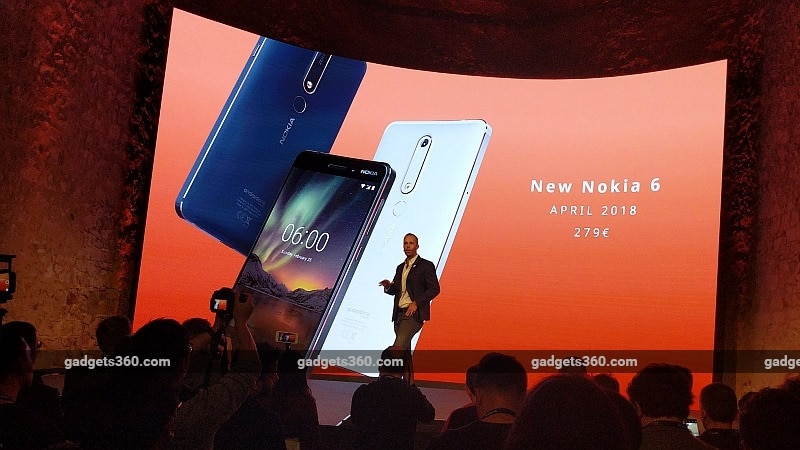 Nokia 6 (2018) Android One Phone With Snapdragon 630 Launched at MWC 2018: Price, Specifications