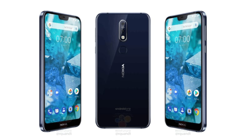 Nokia 7.1 Leaked Renders Show Display Notch, Dual Rear Cameras Ahead of Launch