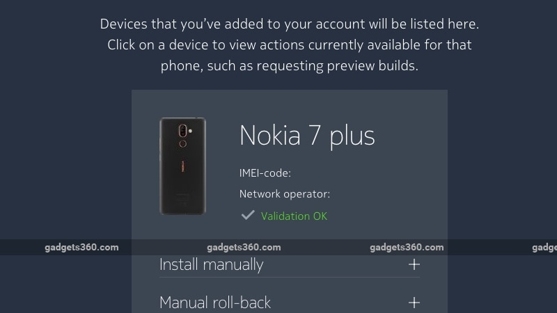 nokia 7 plus android p validate Android P