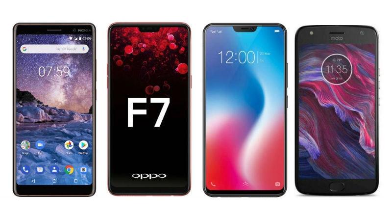 857a8616a9e Nokia 7 Plus vs Vivo V9 vs Oppo F7 vs Moto X4  Price