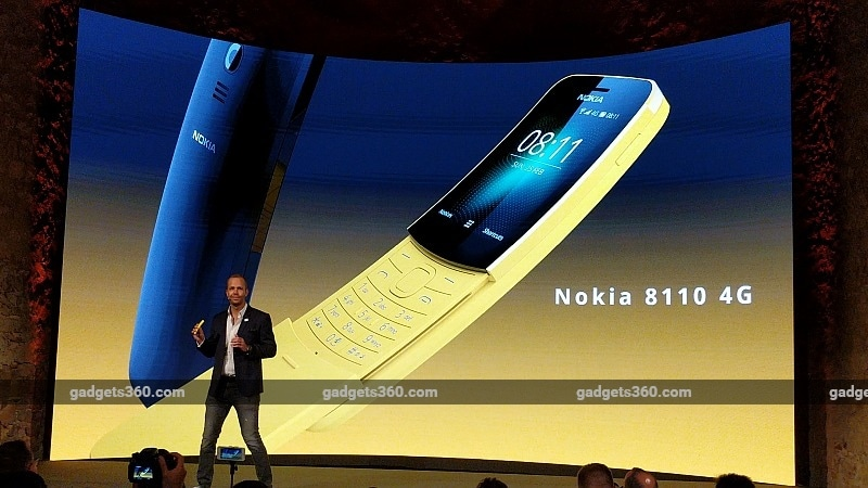 Nokia 8110 4G 'Slider' Feature Phone With Google and Facebook Apps Launched at MWC 2018: Price, Specifications