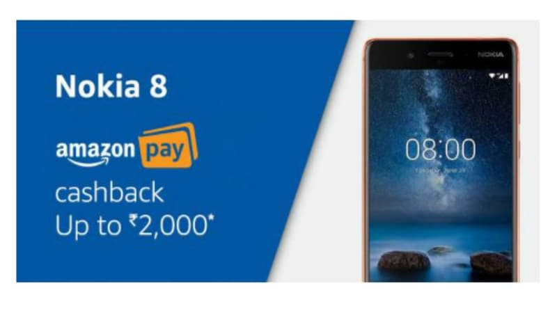 Nokia 6, Nokia 8 Available With Discounts, Cashbacks, and Other Offers During Amazon India's Nokia Mobile Week