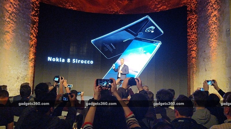 Nokia 8 Sirocco Flagship Smartphone With Dual Rear Cameras, Curved Glass Design Launched at MWC 2018