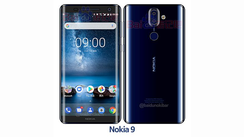 Nokia 9 Mockup Image Spotted, Hints at Curved Display and More