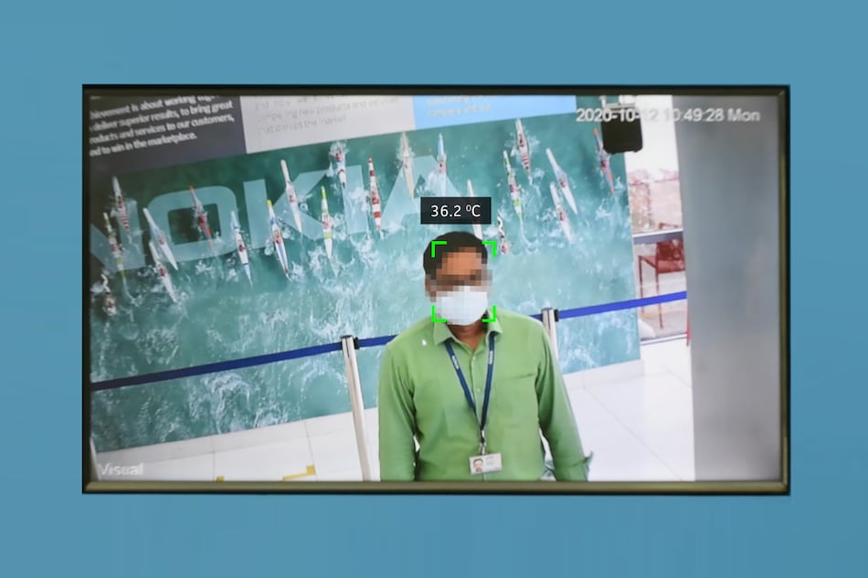 Nokia's COVID-19 Detection System Automatically Scans Employees for Temperature, Mask in India