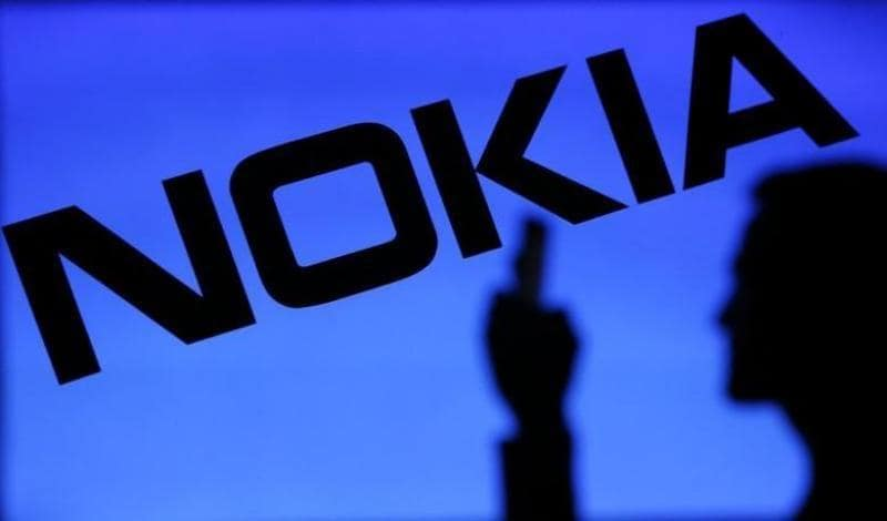 Nokia logo with man's silhouette