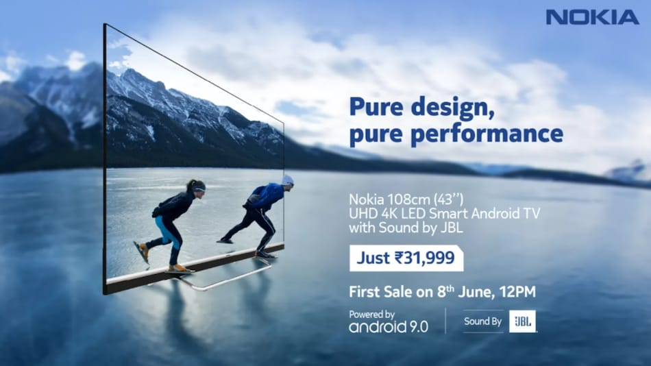 Nokia Smart TV 43-inch Model With 4K Screen, JBL Audio, Built-In Chromecast Launched in India