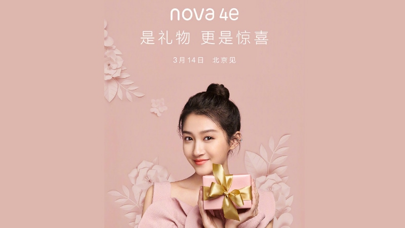 Huawei Nova 4e With 32-Megapixel Selfie Camera Set to Launch on March 14