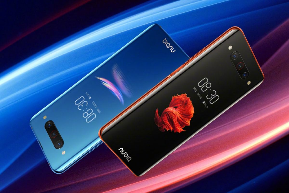 Nubia Z20 phone has two displays and no notch