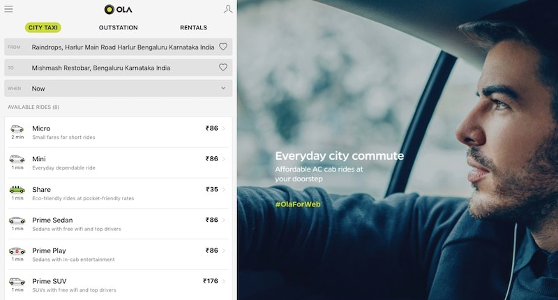 How to Book an Uber or Ola Cab Without the App | NDTV Gadgets360 com