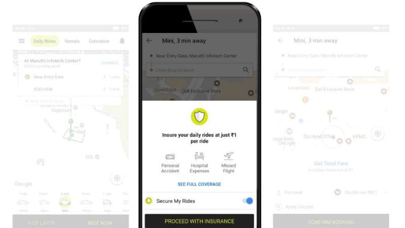 Ola 'Chalo Befikar' In-Trip Insurance Programme Launched for Riders, Can Be Availed at Re. 1