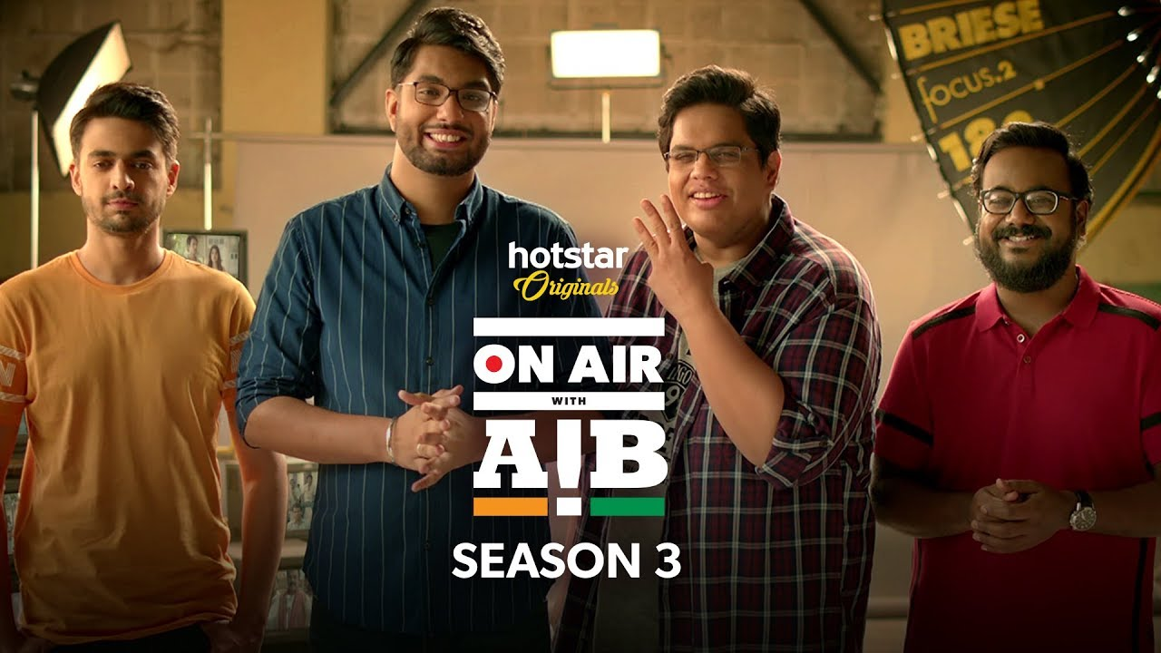 Hotstar Announces On Air with AIB Season 3 Release Date in New Trailer