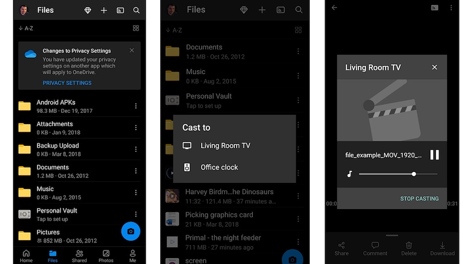 Microsoft OneDrive on Android Will Now Cast Media to Chromecast, Other Compatible Devices
