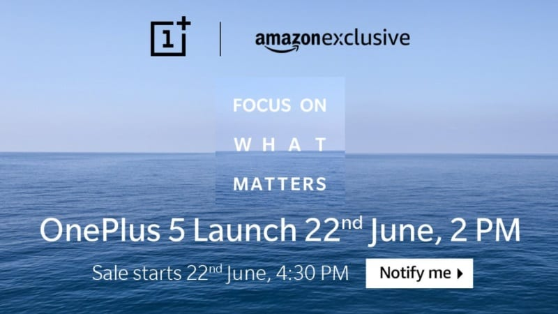 OnePlus 5 Will Sport 8GB of RAM, Amazon India Source Code Reveals