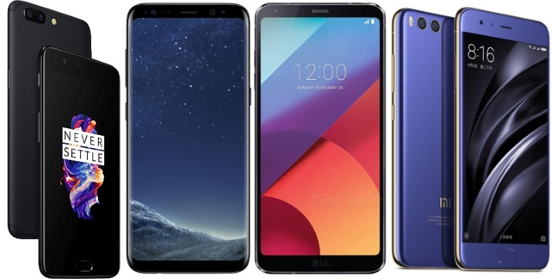 OnePlus 5 vs Samsung Galaxy S8 vs LG G6 vs Xiaomi Mi 6: Price, Specifications, Features Compared
