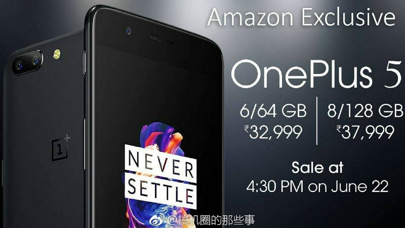 OnePlus 5 Price in India Leaked Yet Again Ahead of Launch