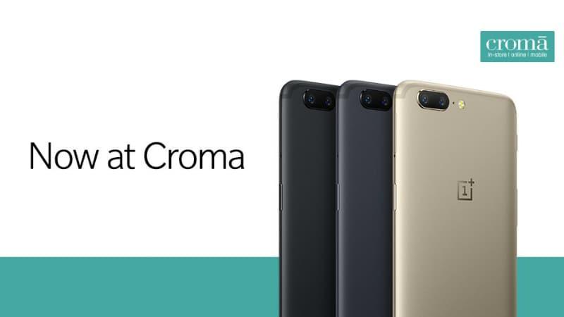 OnePlus 5 स्मार्टफोन 19 सितंबर से देशभर के क्रोमा स्टोर में मिलेगा