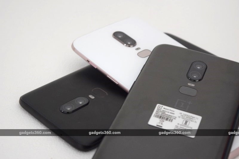 OnePlus 6 Silk White, Midnight Black, Mirror Black, and Marvel Avengers Limited Edition in Pictures