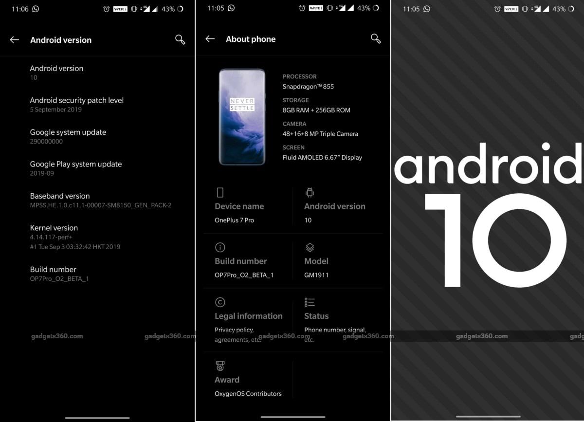 OnePlus 7, OnePlus 7 Pro Get OxygenOS Open Beta 1 Update