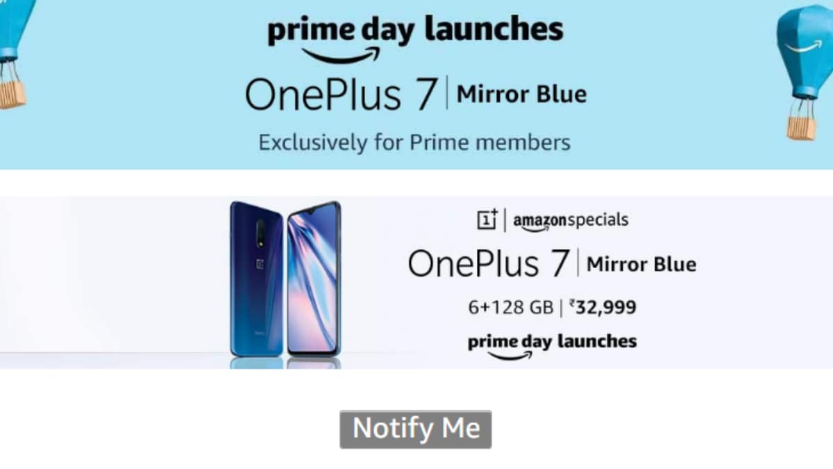 OnePlus 7 Mirror Blue Colour Variant Launched in India: Price, Launch Offers, Specifications