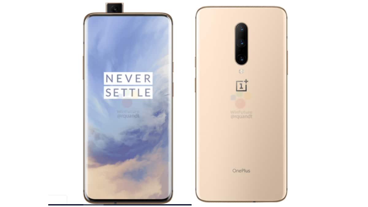 OnePlus 7 Pro Almond Colour Variant, OnePlus 7 Renders Surface Online