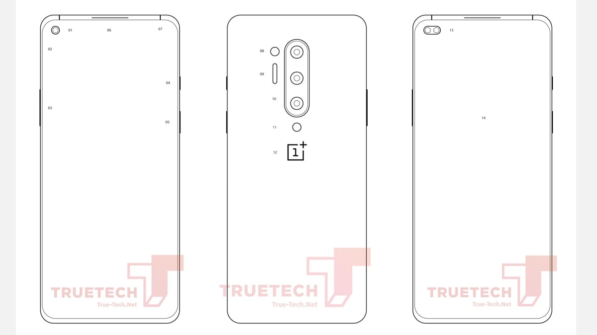 OnePlus 8 Pro Design Diagrams Leak, Suggest Hole-Punch Display and Quad Camera Setup