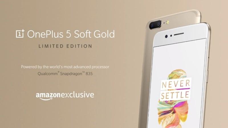 OnePlus 5 अब सॉफ्ट गोल्ड रंग में भी बिकेगा