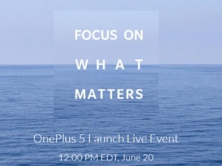 OnePlus 5 Launch Date Revealed as June 20; India Launch on June 22